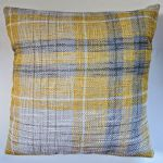"Cushion Cover in Next Ochre Yellow Astley Check Tartan 14"" 16"" 18"" 20"""